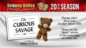 "SVTC Presents ""The Curious Savage."" @ La Citadelle | Cornwall | Ontario | Canada"