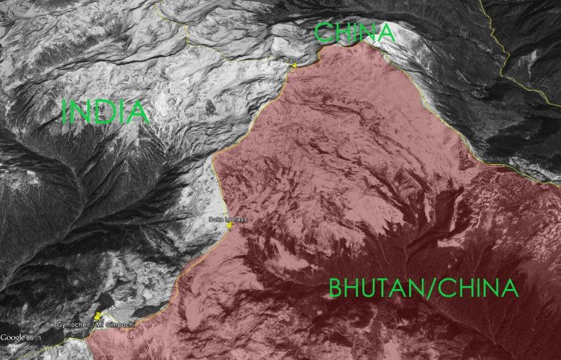 The Doklam triboundary region. Source: Google Maps. (thediplomat.com)