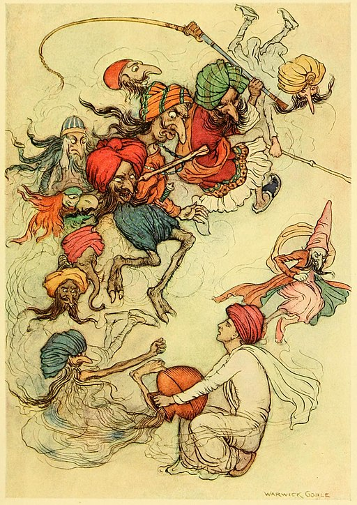 Illustration in Folk-tales of Bengal by w:Lal Behari Dey