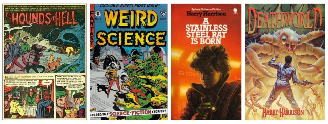 Harry Harrison paperback covers