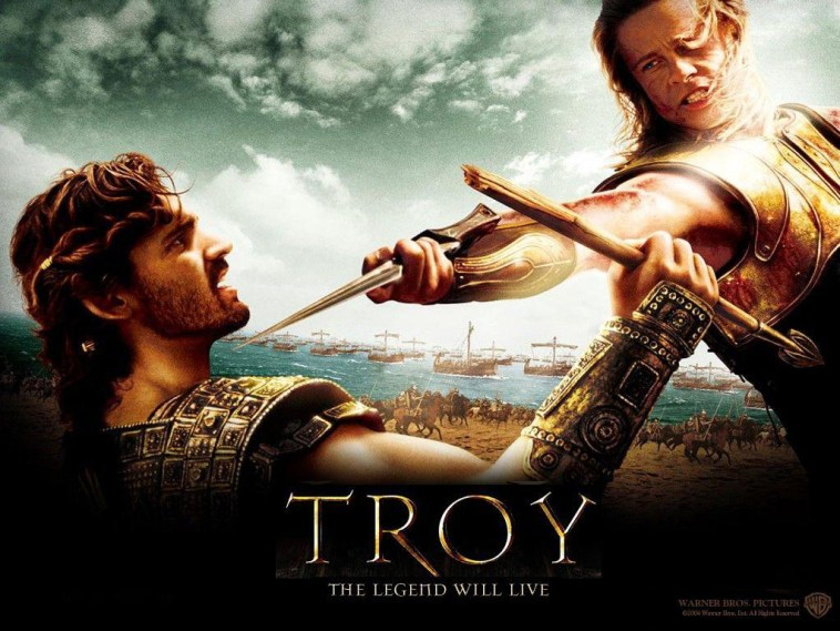 Troy movie poster, these fantastic worlds