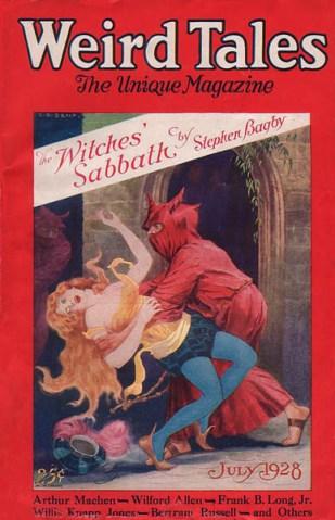 Arthur Machen, Weird Tales, July 1928, dark fantasy