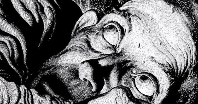 Virgil Finlay's epic illustration for Poe's Tell Tale Heart