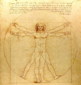 Da Vinci, Vitruvian man, Fibonacci