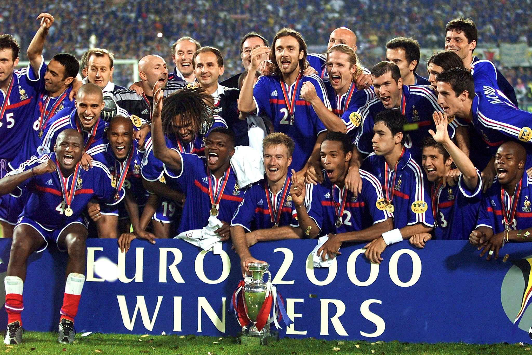 Zidane, Deschamps and France's functional Euro 2000 winners