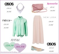 Green + Lilac + Nude Outfit / Outfit Verde + Lila + Nude