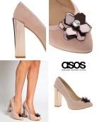 ASOS nude high heels £45.00 / Zapatos de tacón de ASOS 59,09€