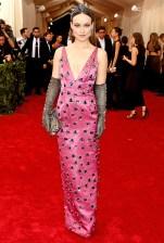 Olivia Wilde wears a Prada dress