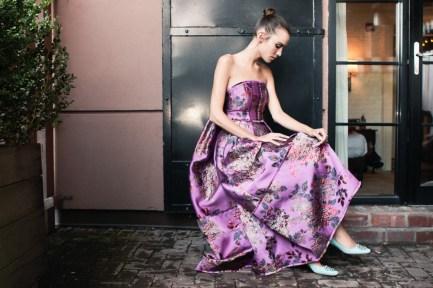 Alexa Chung wears an Erdem dress