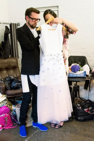 Morten Underbjerg ultimates the details on Sophia Webster's wedding dress