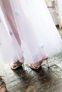 Detail of Sophia Webster's tulle skirt and shoes