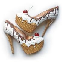 Shoe Bakery Premium Vanilla Ice Cream Heels