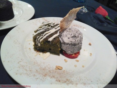 Green tea brownie and black sesame ice cream are a match made in heaven / Pic: These Heels are Made 4 Walking