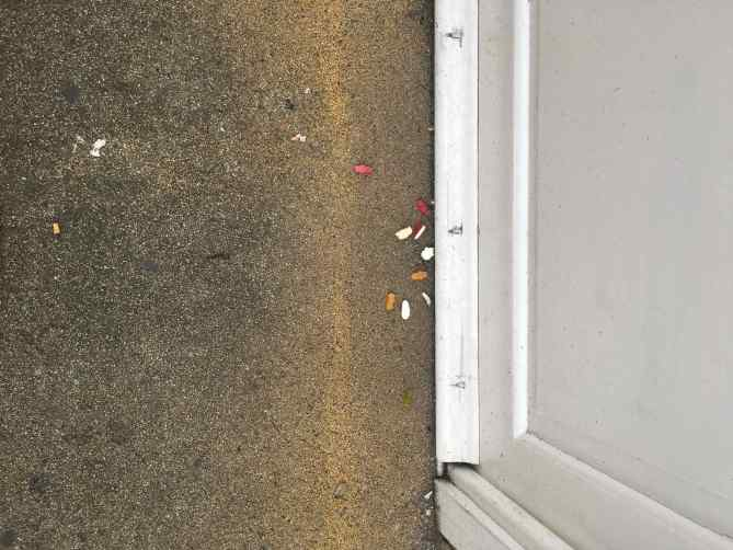 Soho pavement candy-crumbed