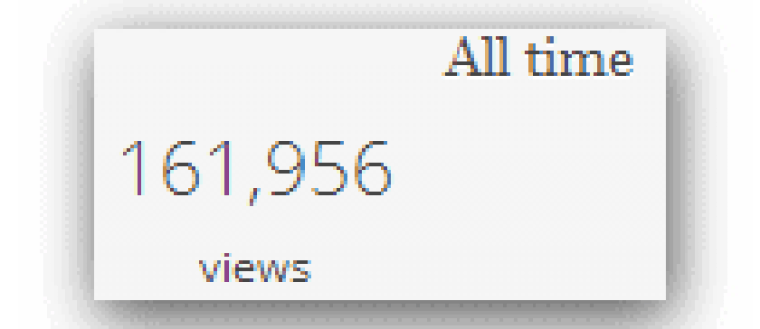 162,000 Views- The Story of Our Site- So far!