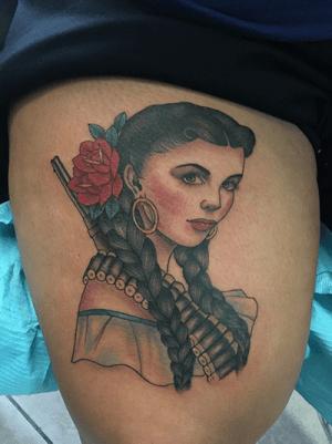 Tattoo of a woman