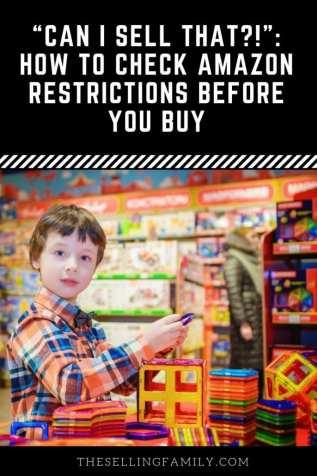 «Puis-je vendre ça?!»: Vérification des restrictions Amazon avant d'acheter