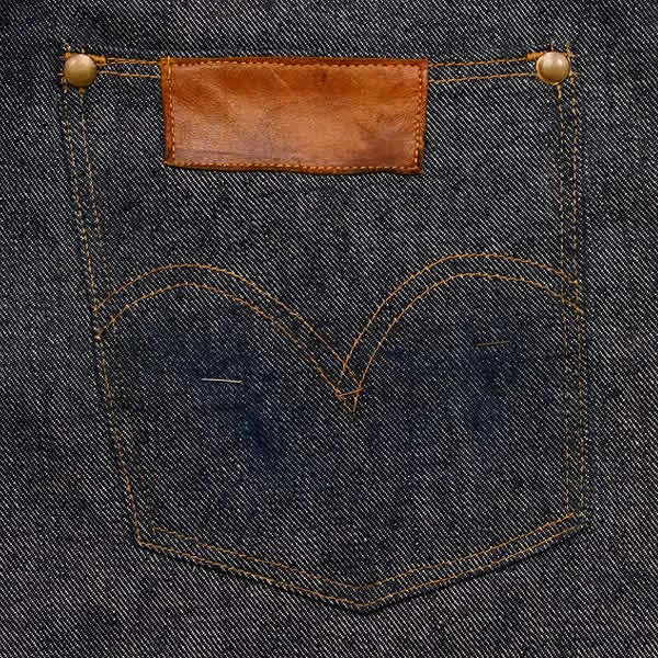 Handsome back pocket- I like the cool leather patch placement.