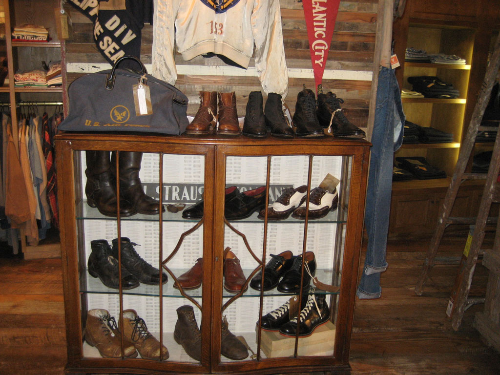 Vintage boots from the 1920s-1940s.