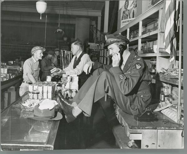 Jimmy Sewart inside family store