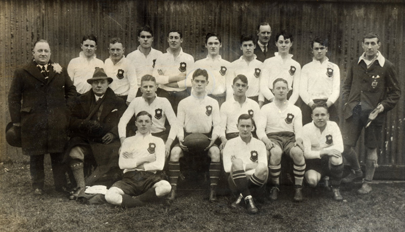 vintage rugby football team