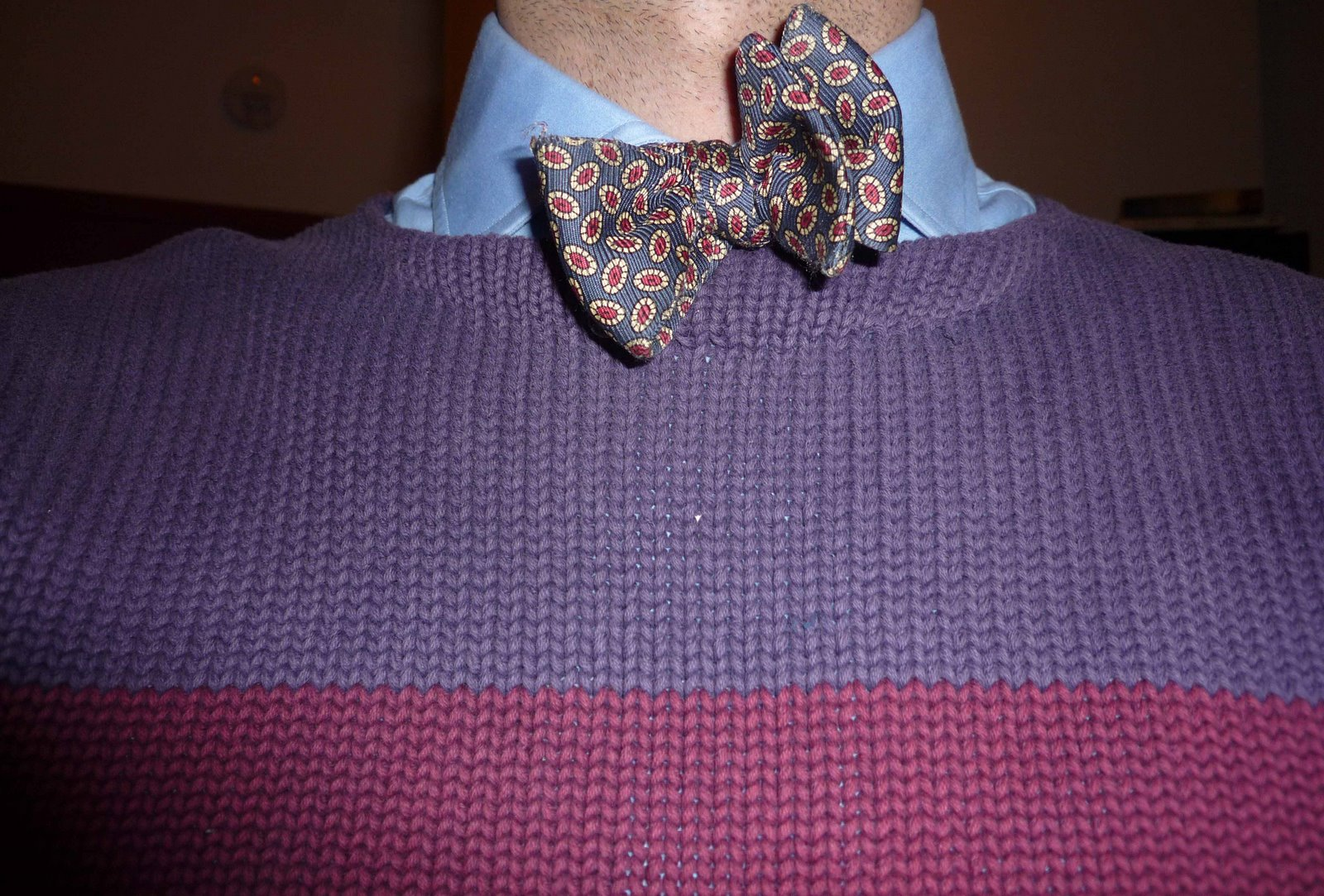 boatneck and bow tie