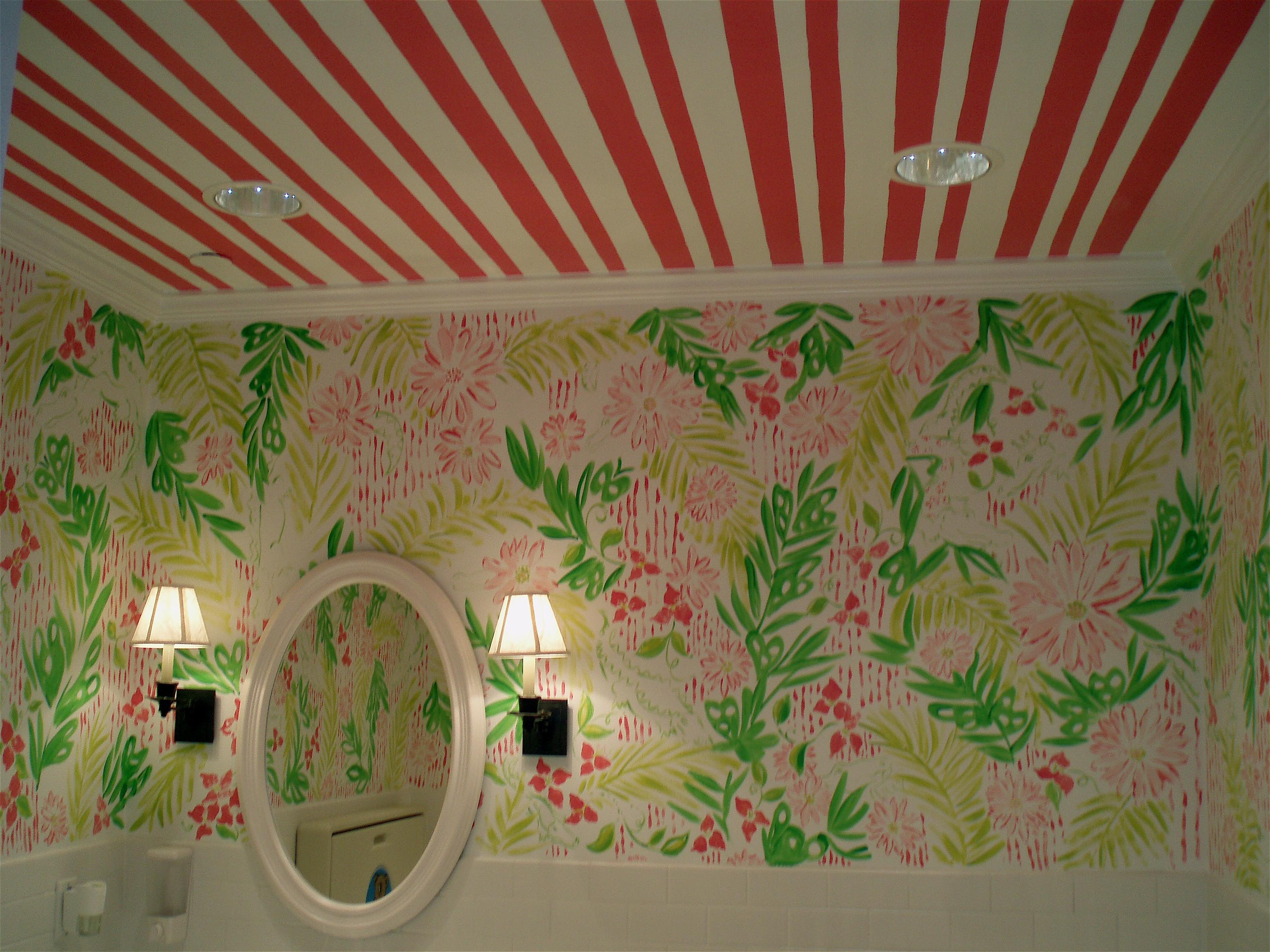 Lilly Pulitzer powder room