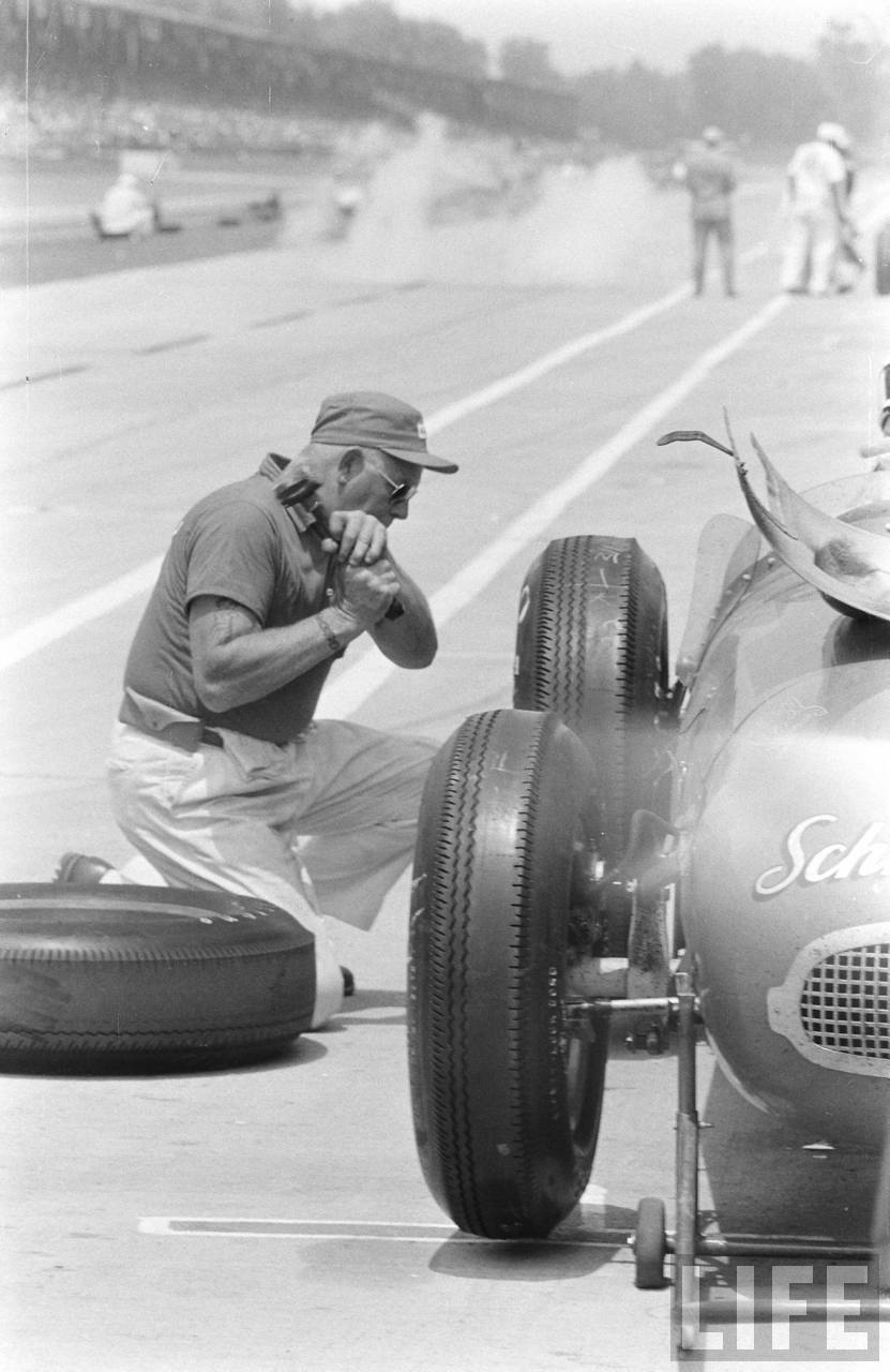Indy 500 1957 pit crew fury