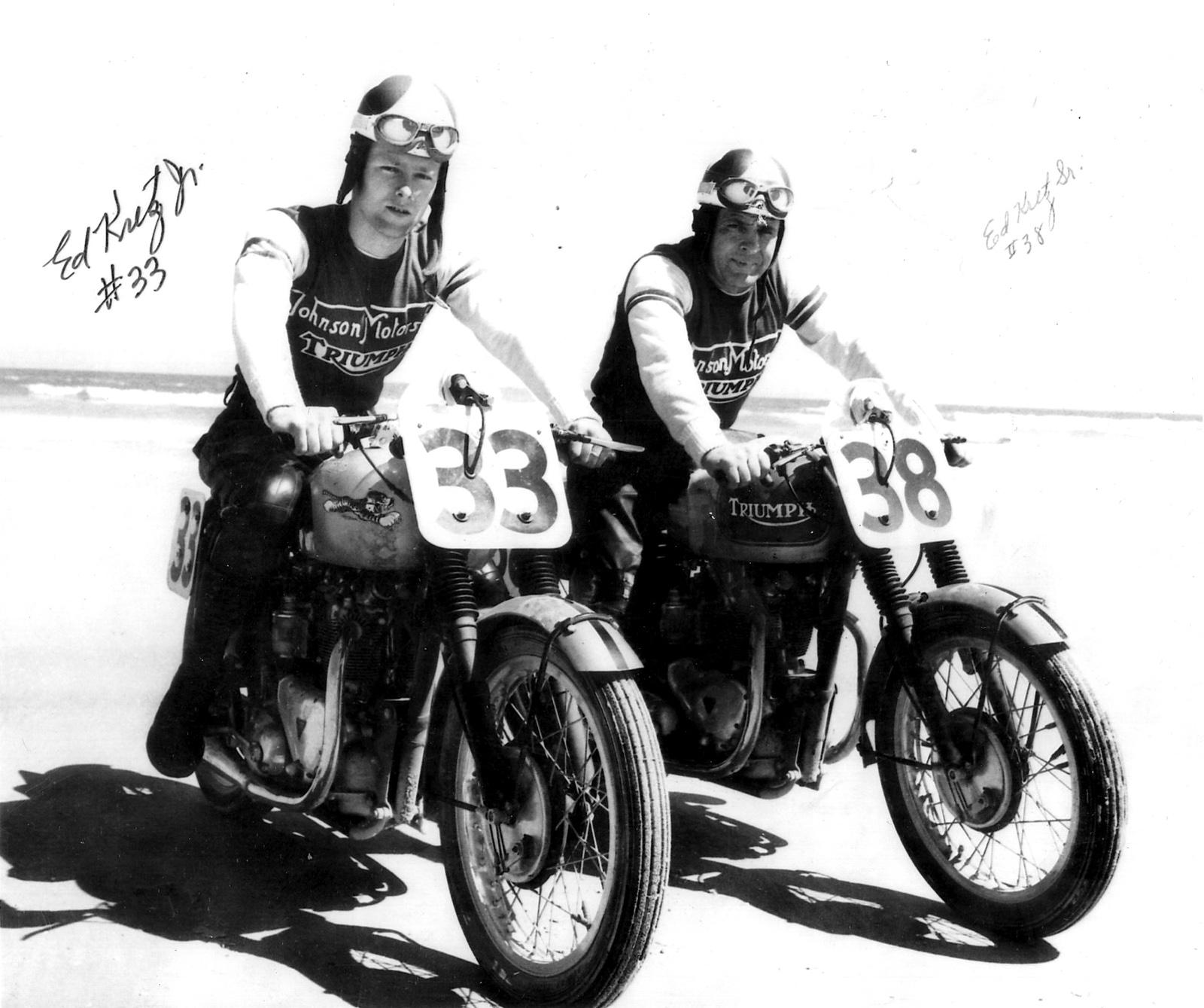 Ed Kretz Jr. (on the left) and Ed Kretz Sr. (on the right)