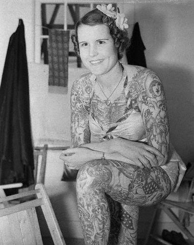 tattoo lady