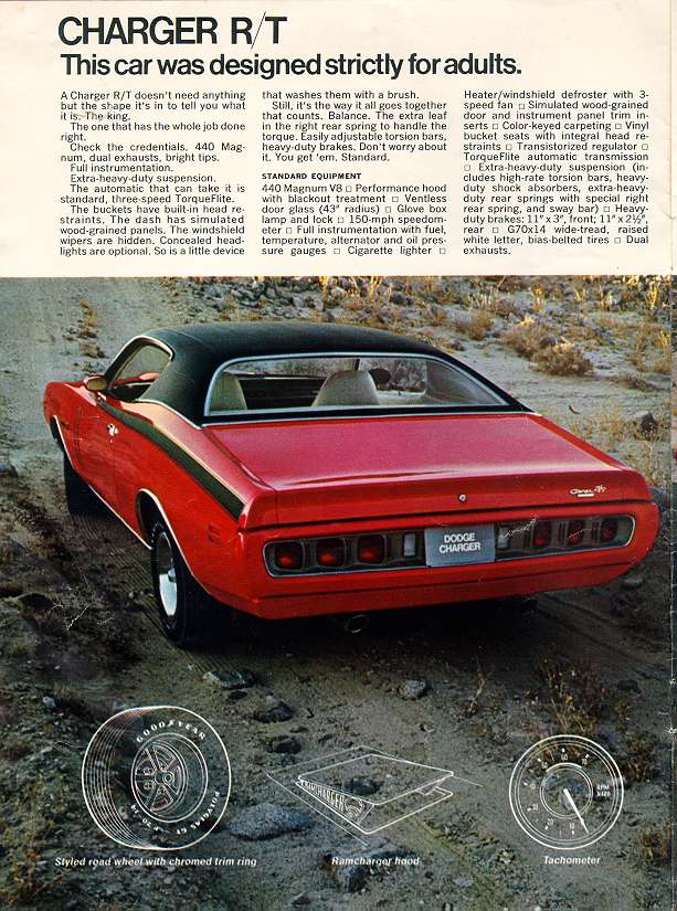 Vintage Dodge Charger Super Bee ad cont.