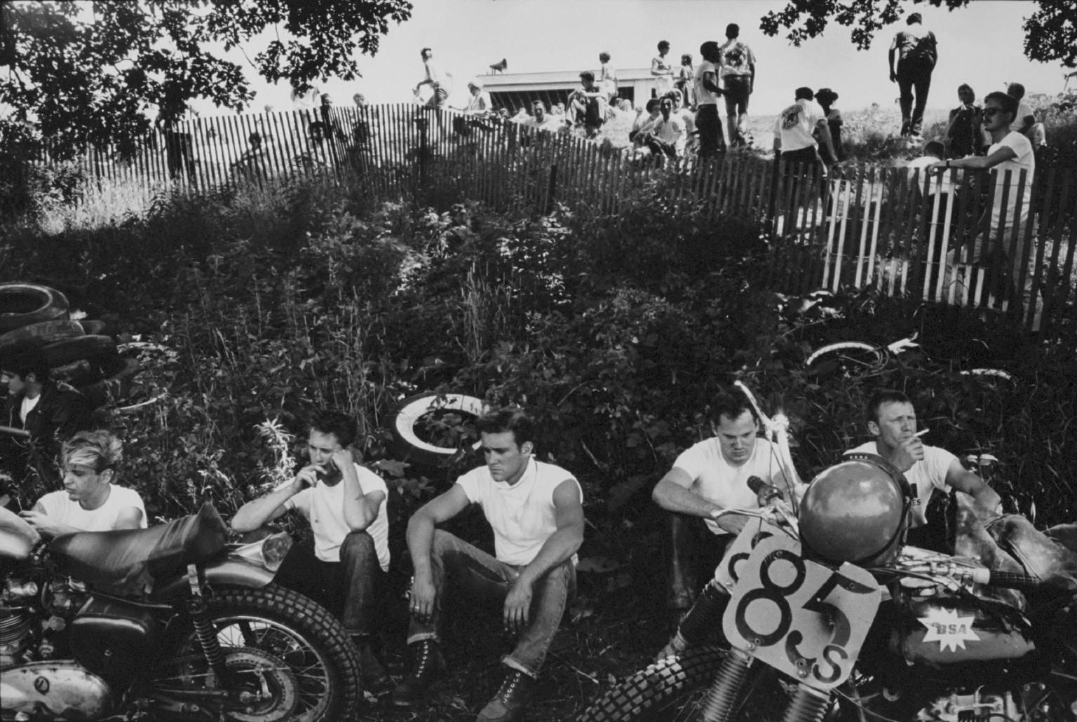 """""""Racers, McHenry, Illinois"""" from the Bikeriders by Danny Lyon  --1965."""