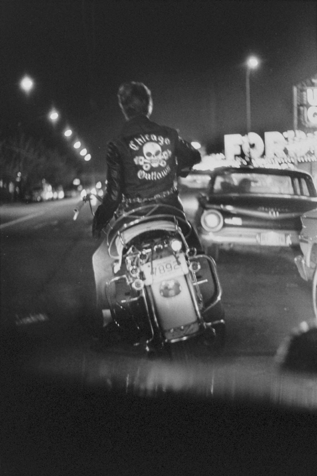"""""""Benny, Grand and Division, Chicago"""" from The Bikeriders by Danny Lyon  --circa 1965-66."""