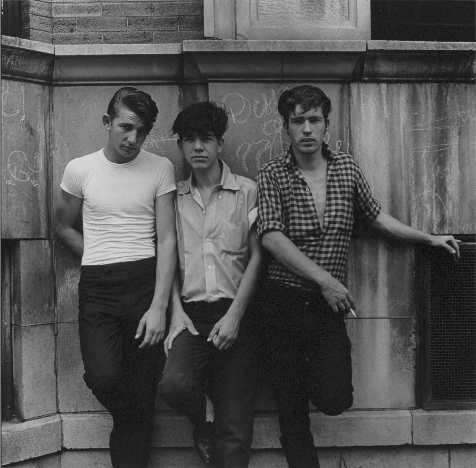 """""""Three young men, Uptown, Chicago"""" Pictures from the New World by Danny Lyon  --1965."""