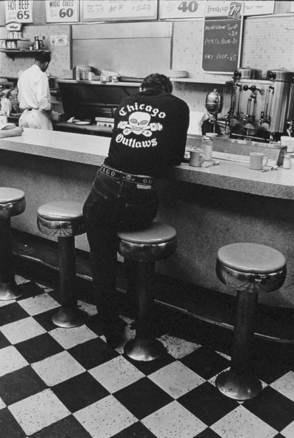 """""""Jack, Chicago"""" from The Bikeriders by Danny Lyon  --1965."""
