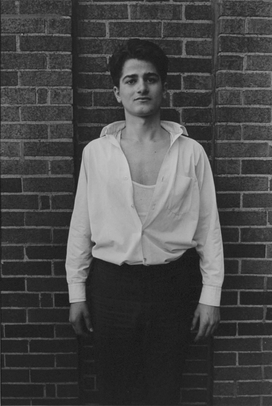 """""""Young man, Hyde Park, Chicago"""" from Toward a Social Landscape by Danny Lyon  --1965."""