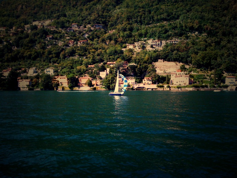 "Lake Como from the ""water bus"""