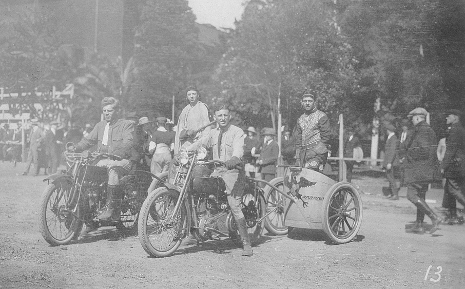 Oakland Motorcycle Club chariot race