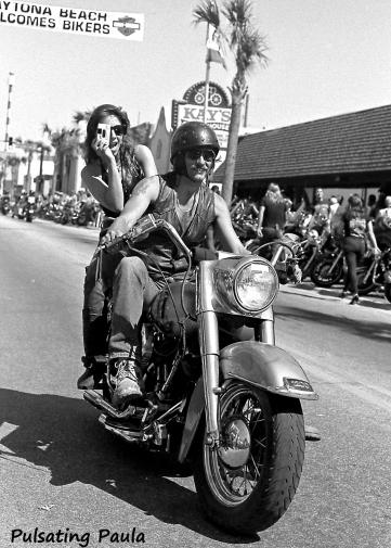 PULSATING PAULA DAYTONA BEACH BIKE WEEK WELCOMES BIKERS 1980S