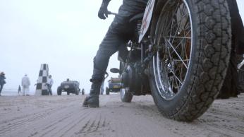 A TROG THE RACE OF GENTLEMEN VINTAGE HARLEY INDIAN MOTORCYCLE WILDWOOD NJ BEACH