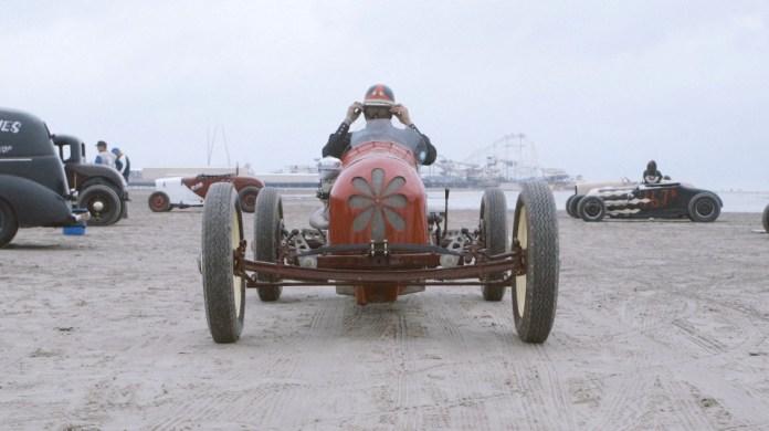A VINTAGE HOT ROD TROG THE RACE OF GENTLEMEN WILDWOOD NJ BEACH PHOTO
