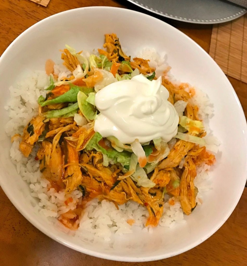 Shredded Chicken and Rice Bowl