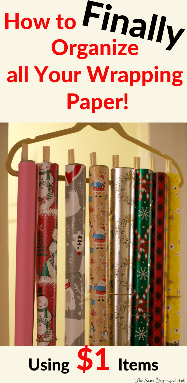 A Simple and Cheap Way to Organize Your Wrapping Paper - The Semi Organized Ant