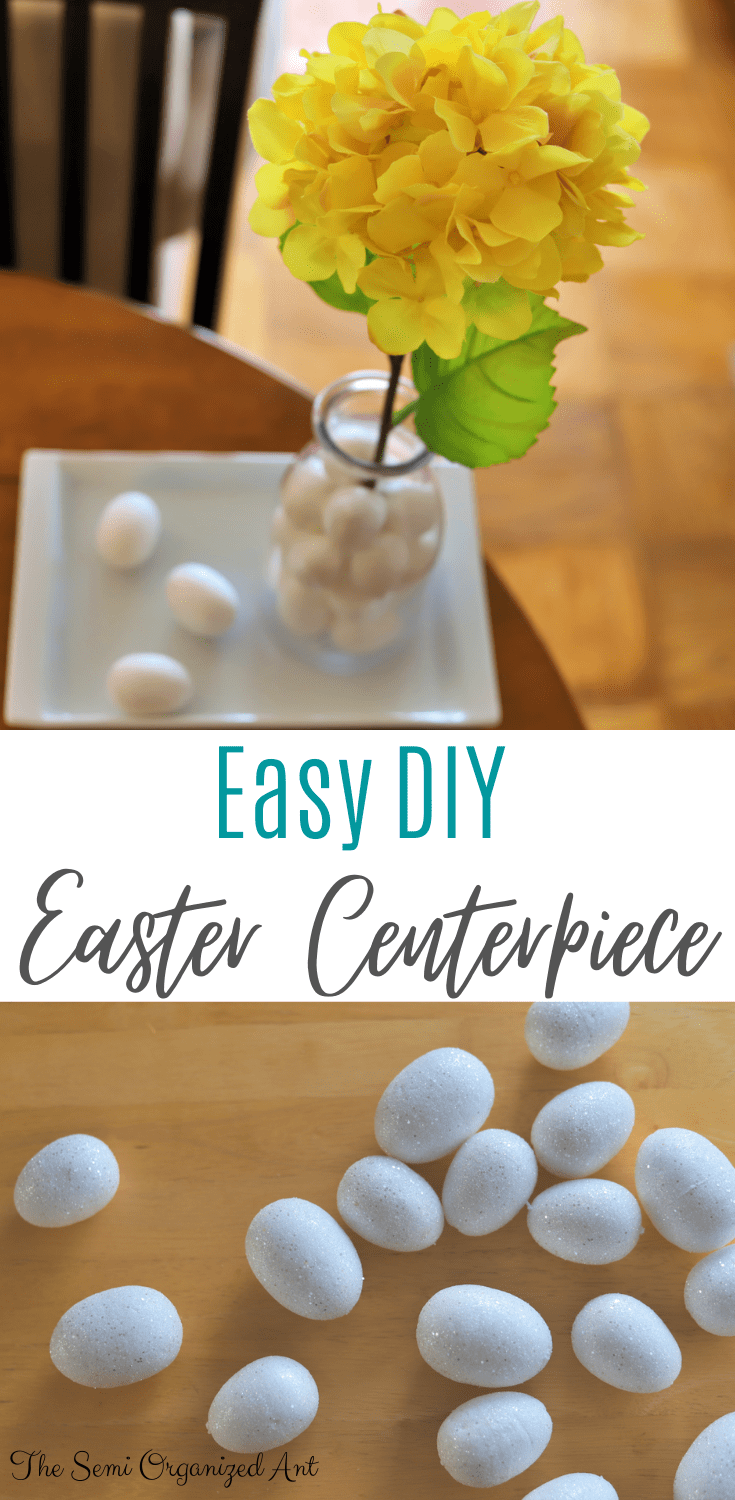 Easy Topiary Style Easter Centerpiece - The Semi Organized Ant