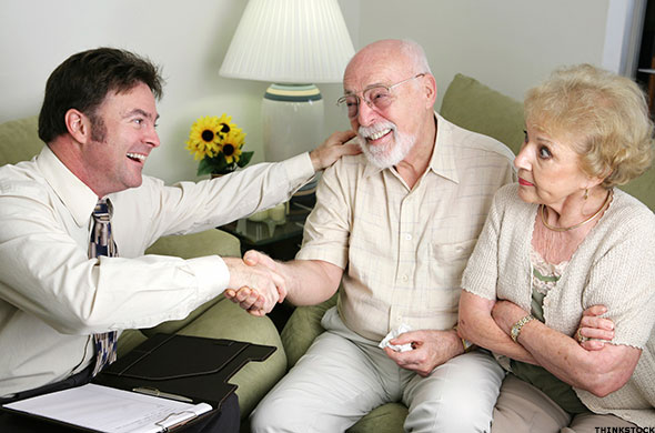 Older couple with conman