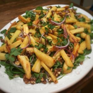 Roasted maple parsnip salad