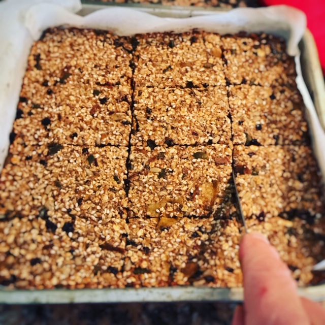 Apple and date flapjacks