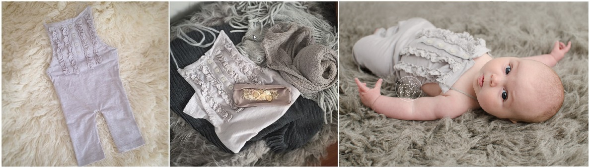 pure-natural-newborn-photography-gatineau-ottawa-birth-baby-and-belly-photographer-sitter-romper-grey-ruffle-buttoned-outfit-flokati, product photography