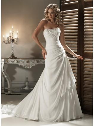 chiffon-strapless-dipped-neckline-a-line-wedding-dress