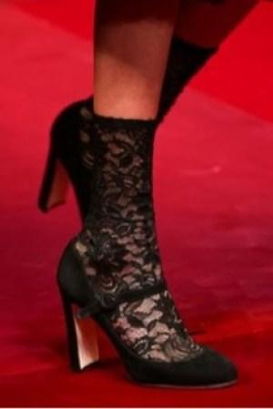lace socks heels dolce